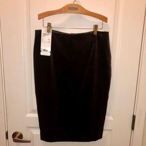Escada Couture Brown Velvet Pencil Skirt